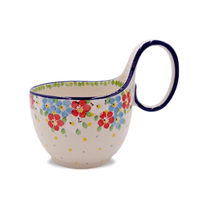 Summer Blossoms Loop Handled Soup Cup