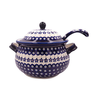 Floral Peacock Soup Tureen
