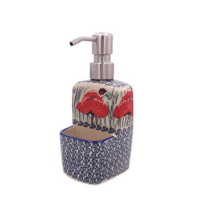 Lady Bug Soap Pump w/ Holder
