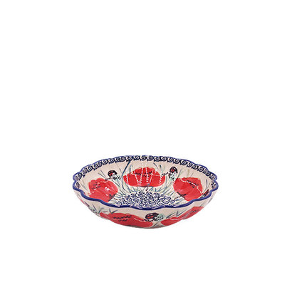 Lady Bug Scalloped Dish 16