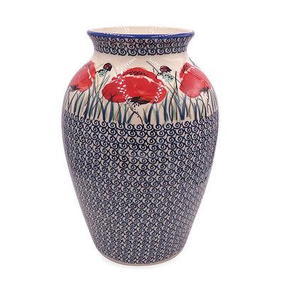 Lady Bug Folk Vase