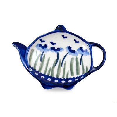 Blue Poppies Tea Bag Caddy