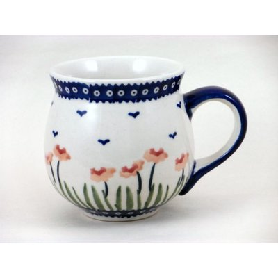 Red Poppies Bubble Mug - Med