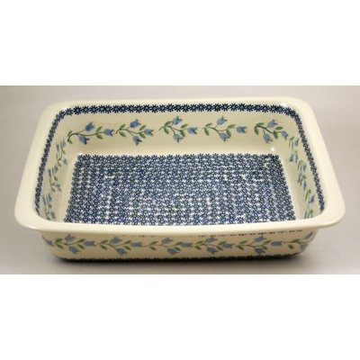 Bell Flower Deep Rectangular Baker