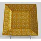 Yellow Blossom Square Dessert Plate 18