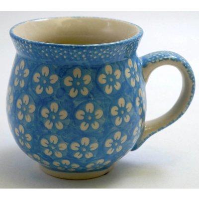 Turquoise Blossom Bubble Mug - Lrg