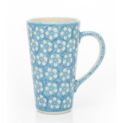 Turquoise Blossom Tall John Mug