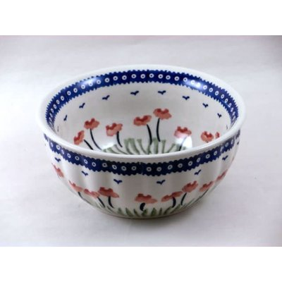 Red Poppies F18 Fluted Chili Bowl