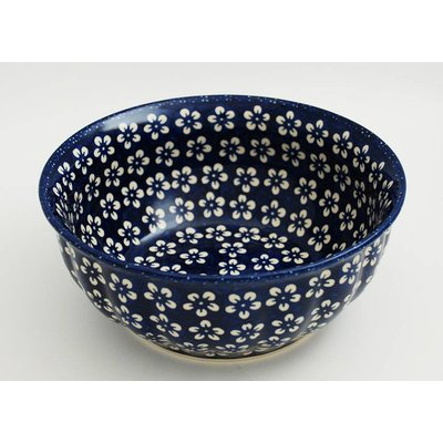 Blue Blossom F24 Fluted Serving Bowl