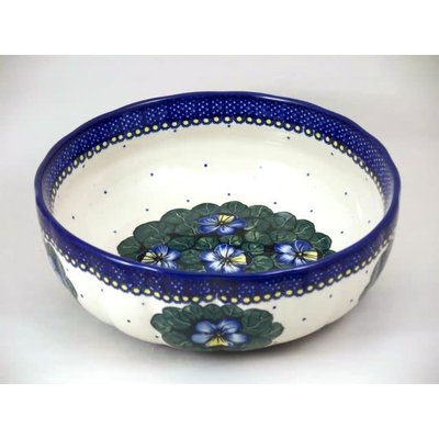 Pansies Agata Serving Bowl 28