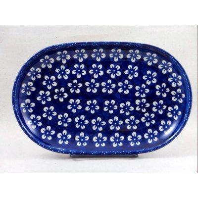 Blue Blossom Oval Tray - Sm