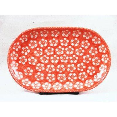 Orange Blossom Oval Tray - Sm