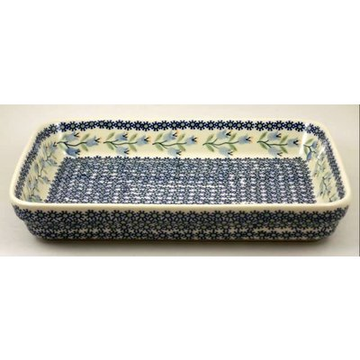 Bell Flower Rectangular Baker - Med
