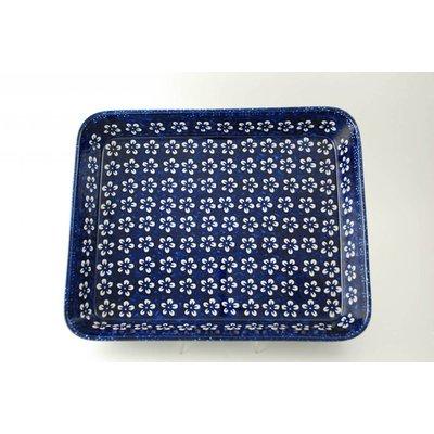Blue Blossom Rectangular Baker - Lrg