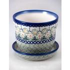 Mayzie Flower Pot w/ Saucer - Sm