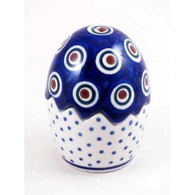 Dotted Peacock Egg Puzzle Salt & Pepper