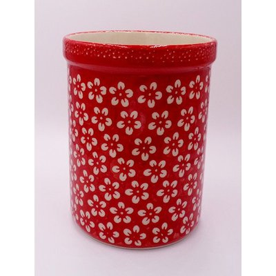 Scarlet Blossom Utensil Holder