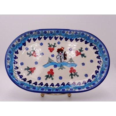 Frosty Oval Dish 24
