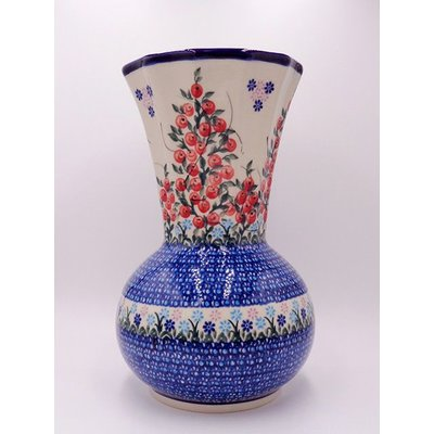 Kalich Red Berries Kanciaty Vase