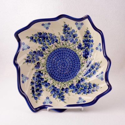 Kalich Blue Berries Swirl Bowl