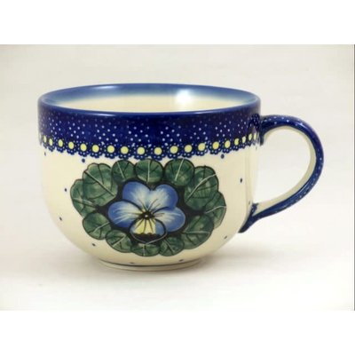 Pansies Latte Cup