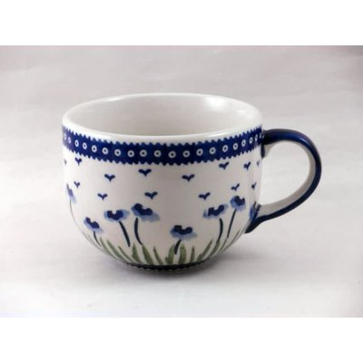 Blue Poppies Latte Cup
