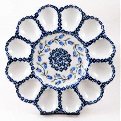 Bell Flower Egg Plate