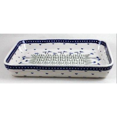 Blue Poppies Rectangular Baker - Med