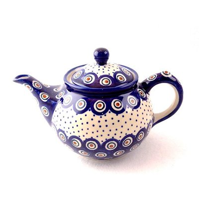 Dotted Peacock Teapot .7 Liter