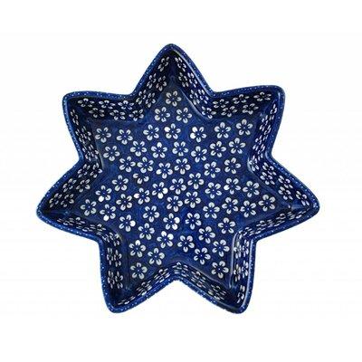 Blue Blossom Star Dish