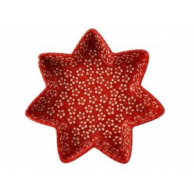 Scarlet Blossom Star Dish