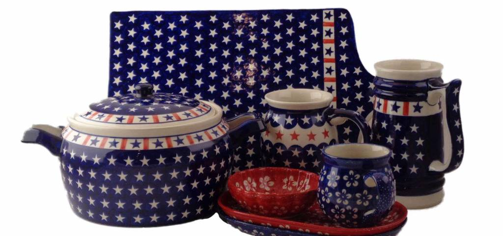 Our Military and the Patriotic Americana Pattern - Top Selling Polish Pottery Patterns