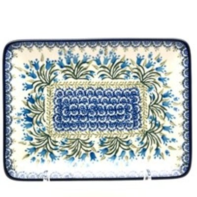 CA Blue Bells Rectangular Dish