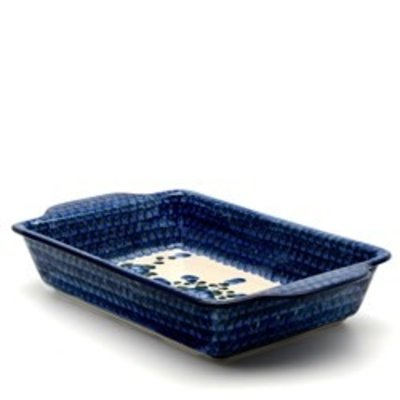 CA Blue Poppy Rectangular Baker - Med