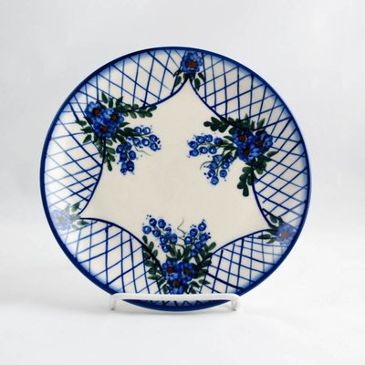 Lattice in Blue Dessert Plate 19