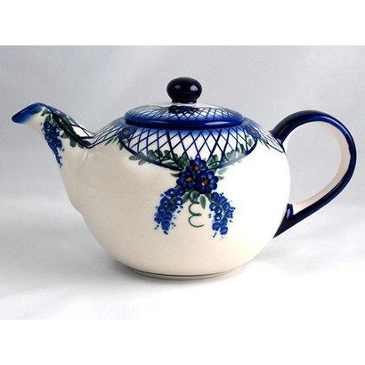 Lattice in Blue Teapot 1 Liter
