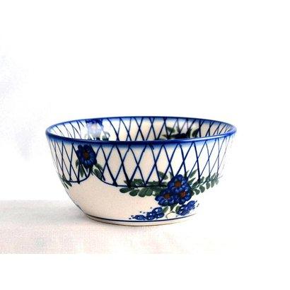 Lattice in Blue Dessert Bowl 13
