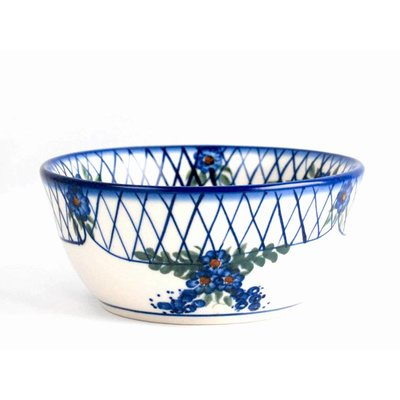 Lattice in Blue Cereal Bowl 15