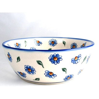 Painted Daisy Serving Bowl 23