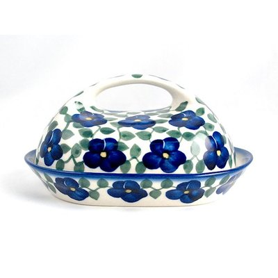 Petals & Ivy Butter Dish w/ Handle