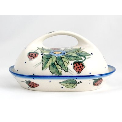 Berries & Cream Butter Dish w/ Handle