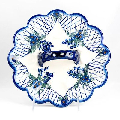 Lattice in Blue Egg Plate