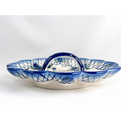 Lattice in Blue Egg Plate