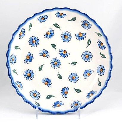 Painted Daisy Tart Dish 25