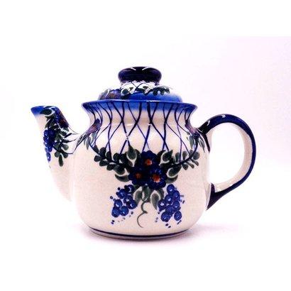 Lattice in Blue Tea for One Teapot .5 Liter
