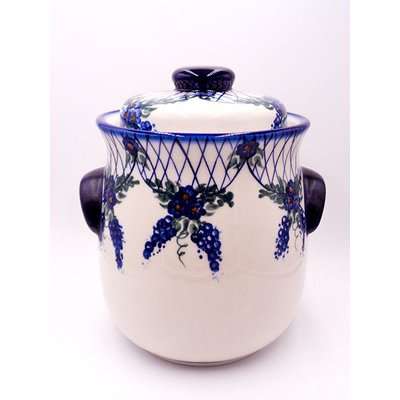 Lattice in Blue Cookie Jar