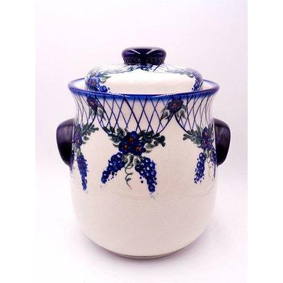 Lattice in Blue Cookie Jar