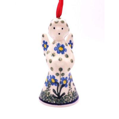 "CA Blue Spring Daisy 3 1/2"" Angel Ornament"