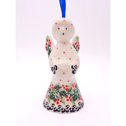 """CA  Holly Berry 3 1/2"""" Angel Ornament"""