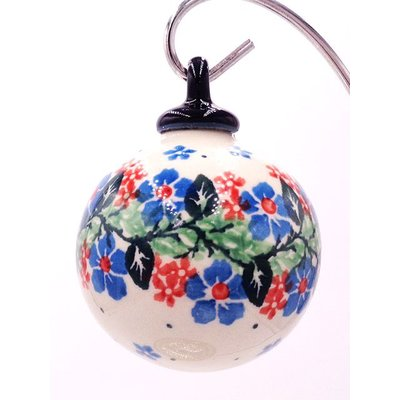 CA Blue Blossoms Ornament